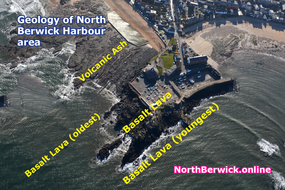 Geology of North Berwick harbour