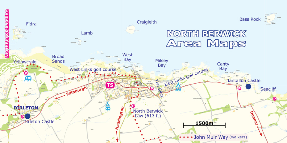 North Berwick area from Dirleton to Seacliff