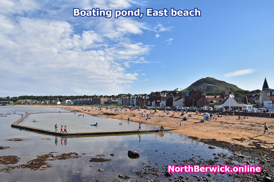 Boating Pond and East beach, North Berwick