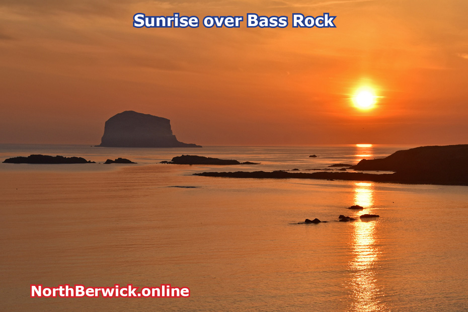North Berwick: Sunrise over the Bass Rock viewed from Castle Hill