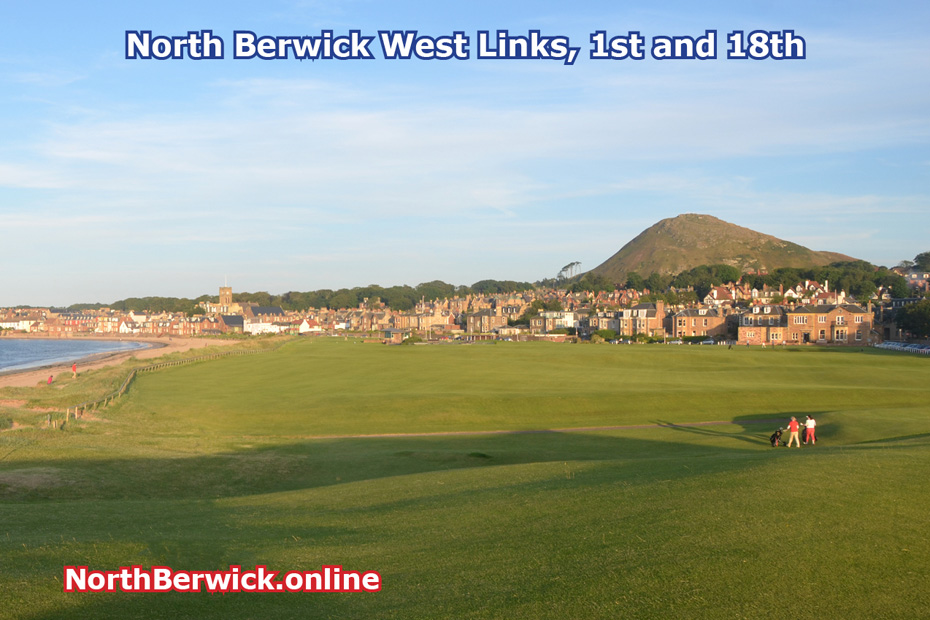 North Berwick West Links golf course, 1st and 18th holes